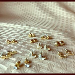 Golden Colored Costume Stud Earrings Collection